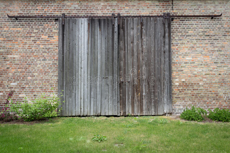 Old wooden door -Wood texture background stock photo