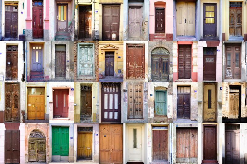 Download Old wooden doors stock image. Image of retro, locked - 25672393