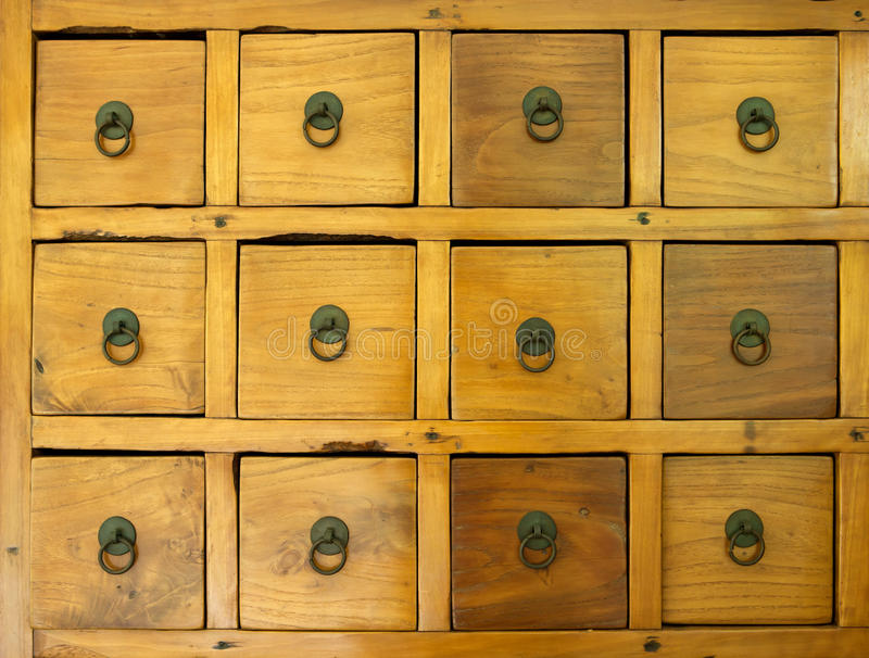The old wooden drawer royalty free stock images