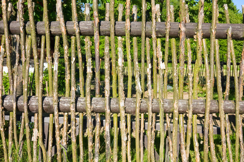 Old wooden fence, royalty free stock photo