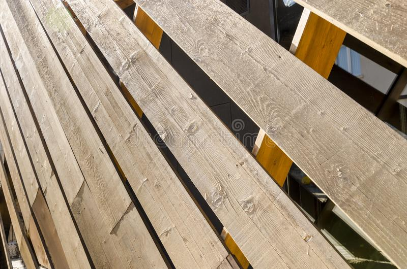 Old wooden fence, blinds. Background royalty free stock images