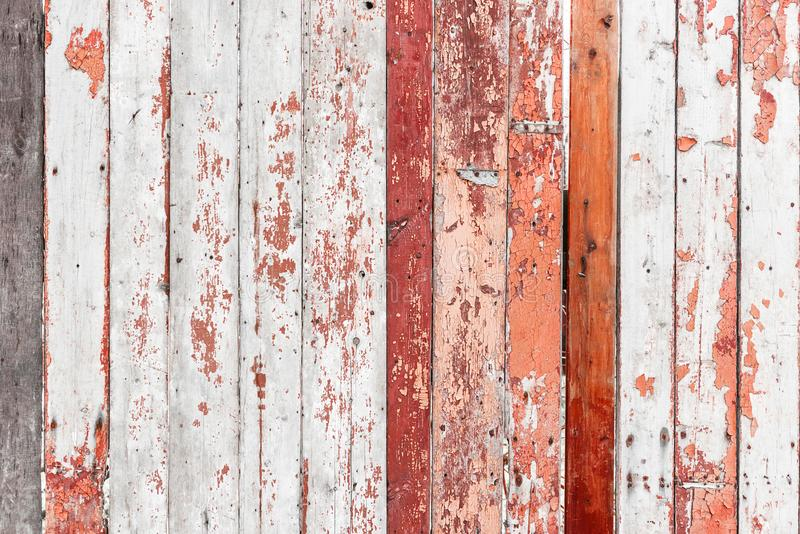 Old wooden fence with cracked paint texture royalty free stock images