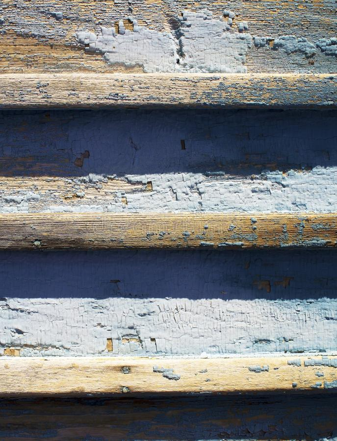 Old wooden fence with paint stock photography