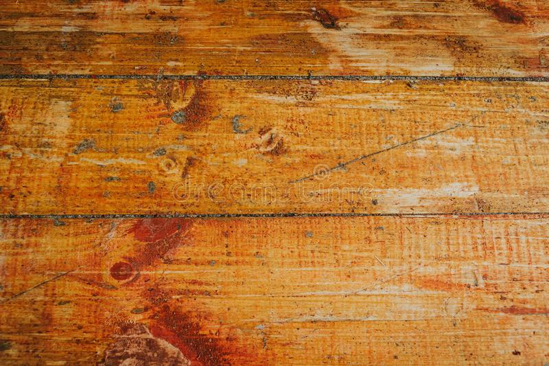 Old wooden floor with paint scraped texture.  royalty free stock images