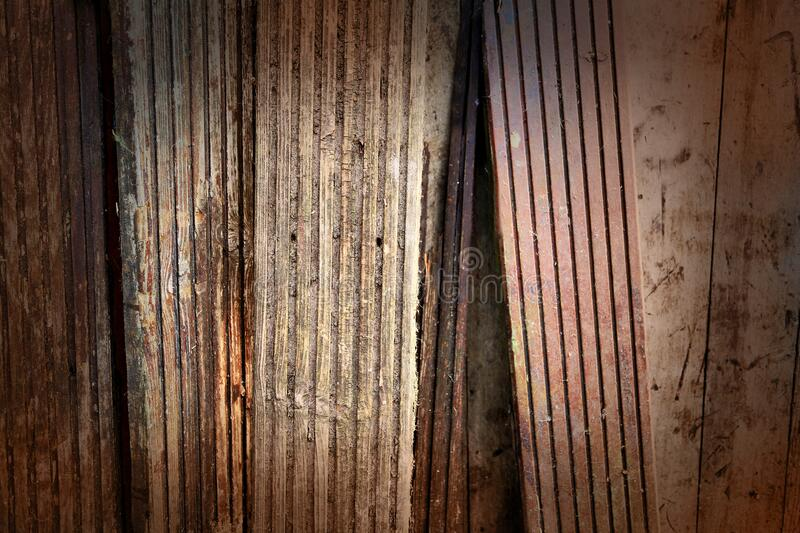 Old wooden floorboard background stock photo