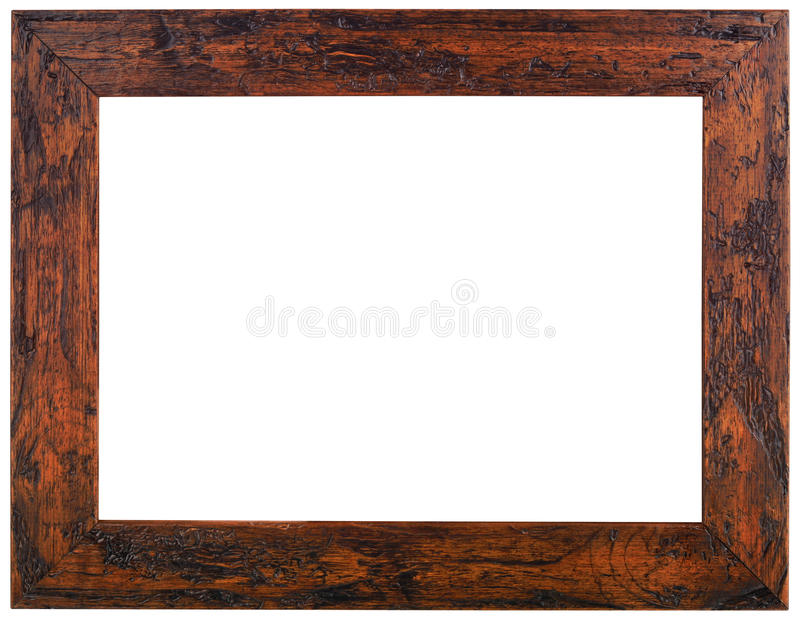 Old Wooden Frame Cutout stock photos