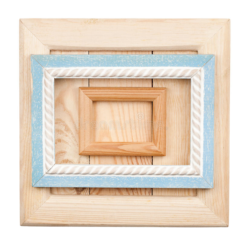 Old wooden frames royalty free stock image
