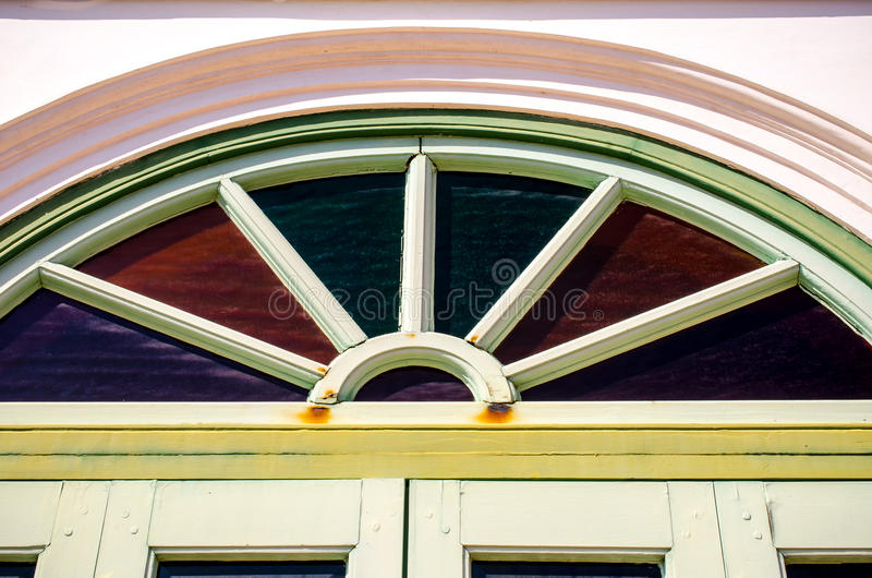 Old wooden gable royalty free stock photo