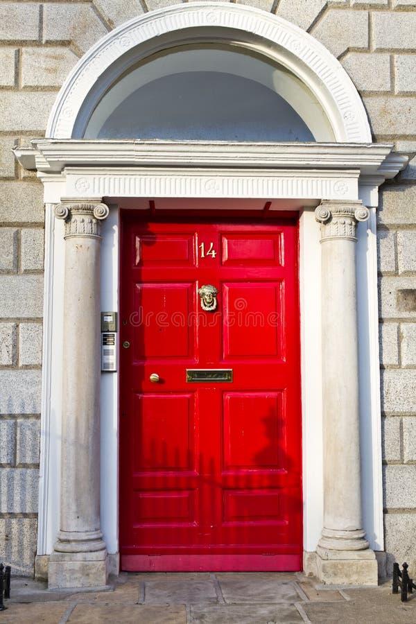 An Old Wooden Georgian Door of Dublin royalty free stock photos