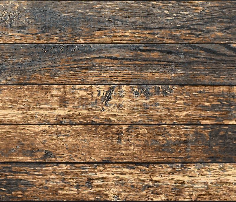 Old wooden grunge planks, vector. Old wooden planks, vector grunge background texture royalty free illustration