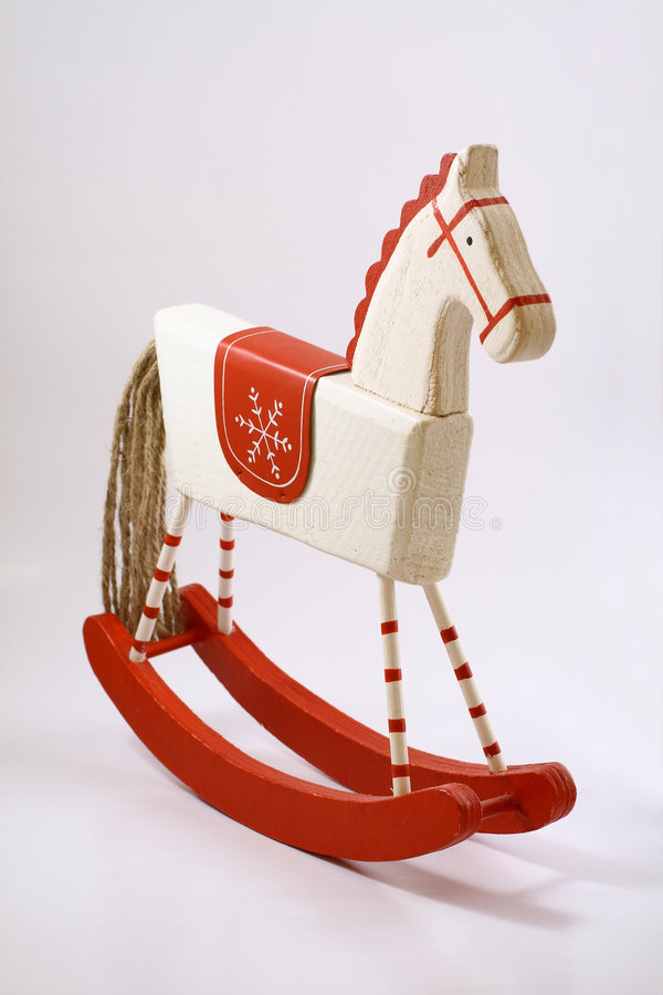 Old wooden horse royalty free stock image