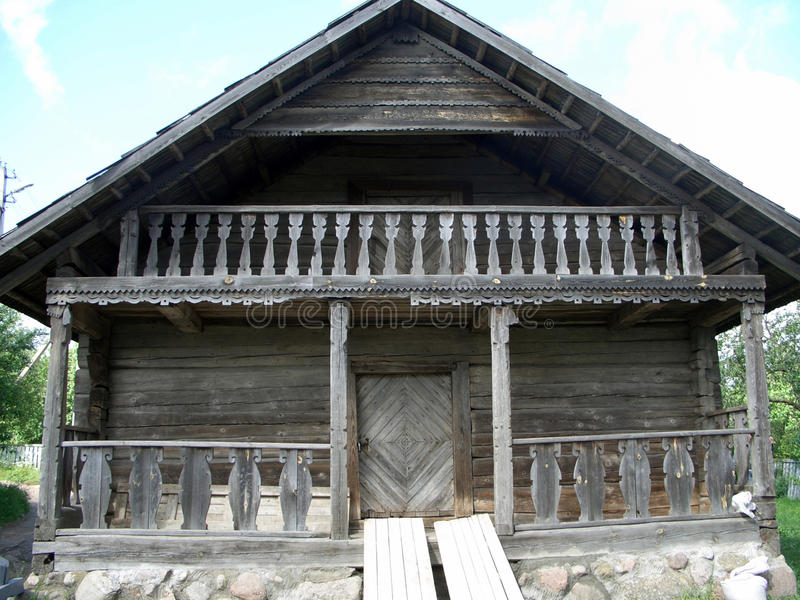 Download Old wooden house stock photo. Image of ancient, blue - 15393070
