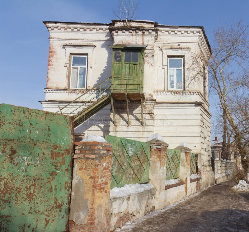 Download Old Wooden House With Balcony Stock Image - Image: 24027695