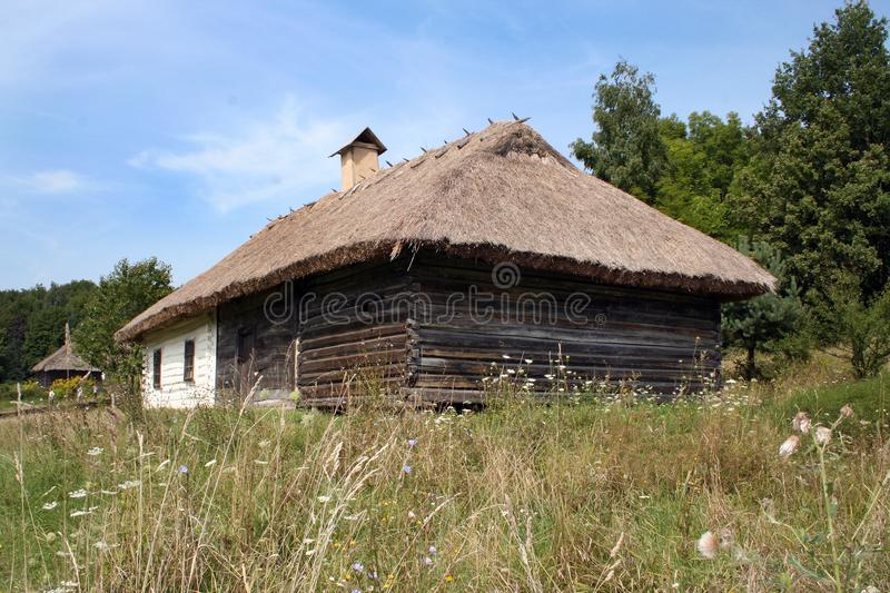 old wooden church in the open-air museum stock photo