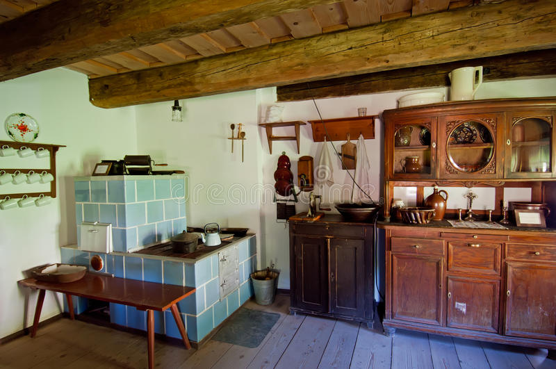 Old Wooden House Interior. View of interior in an old wooden house royalty free stock image