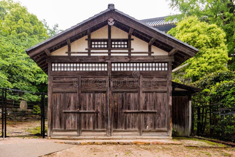 Old wooden house on Miyajima island stock photography