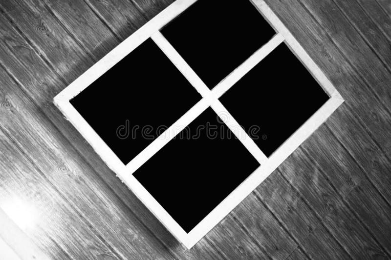 Old wooden window frames can be used as background images. Old wooden house window frames in Thailand can be used as a background image royalty free stock photography