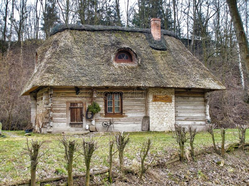 Old wooden hut from XVII century royalty free stock photo