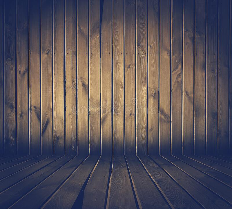 Wooden room background stock photography