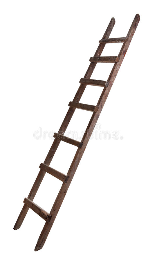 Download Old wooden ladder stock image. Image of carpenter, conceptual - 19669315