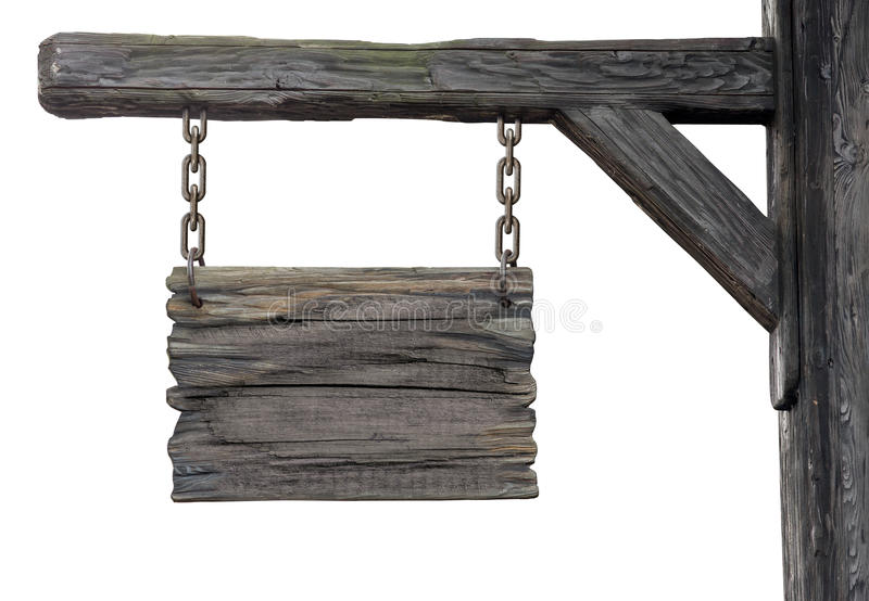 Old wooden medieval tavern signboard royalty free stock image