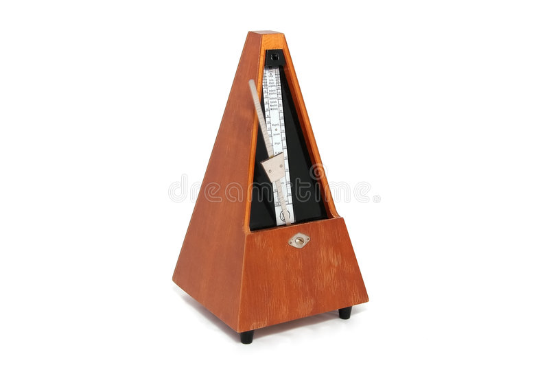 Old wooden metronome stock photography