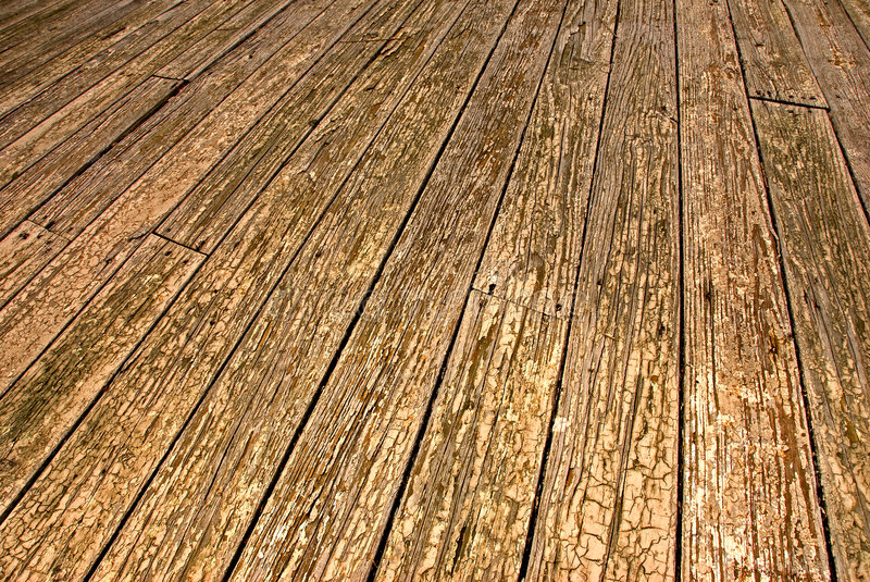 Old wooden patio floor stock image. Image of paint, background ...