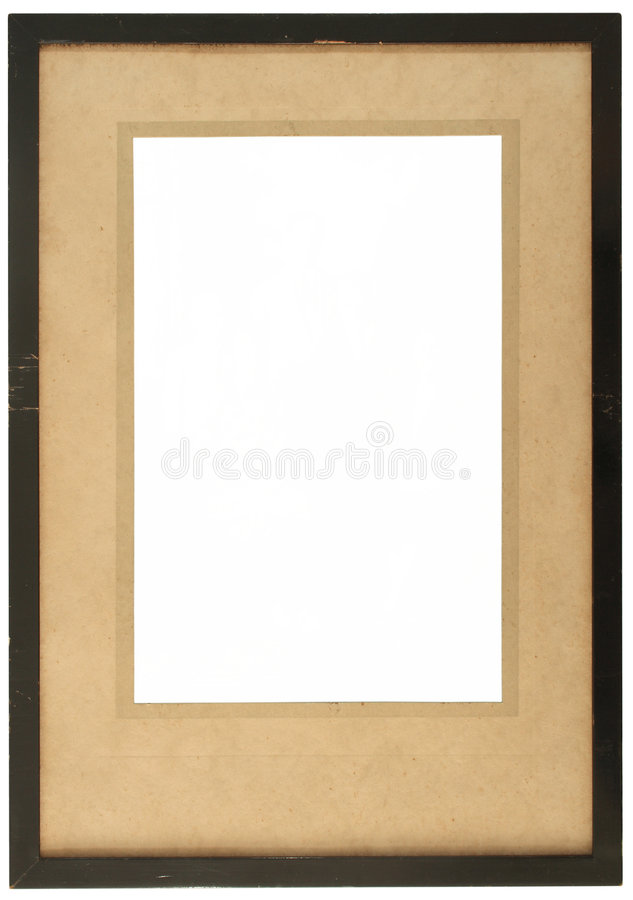 An old wooden photo frame royalty free stock photo