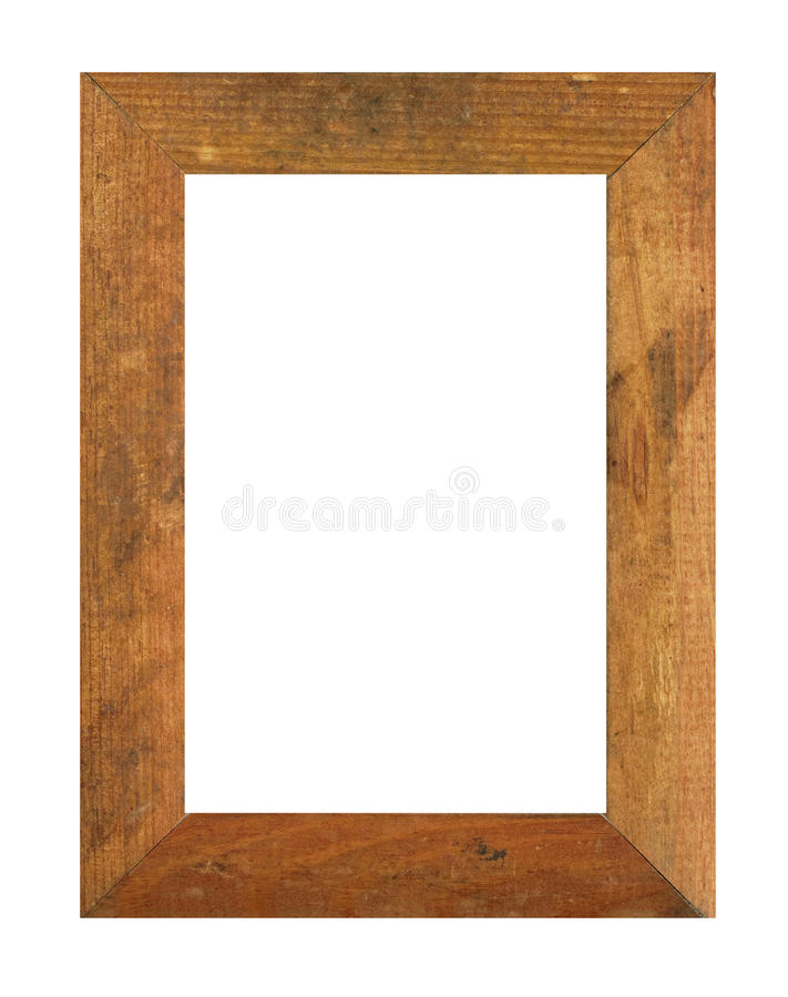 Old wooden photo frame royalty free stock photography