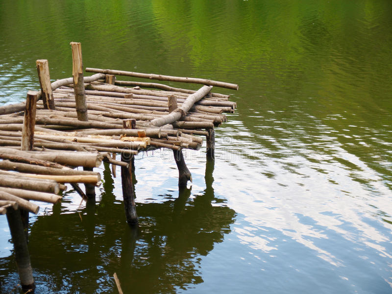 Old wooden pier stock image