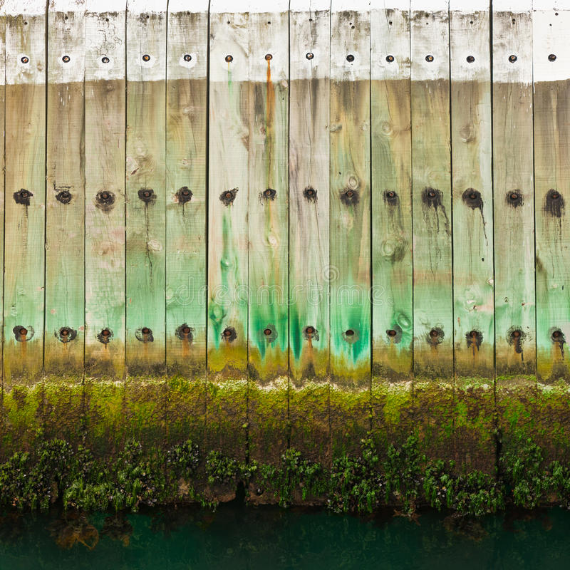 Download Old Wooden Pier Wall With Tidal Waterline Stock Photo - Image: 24707342