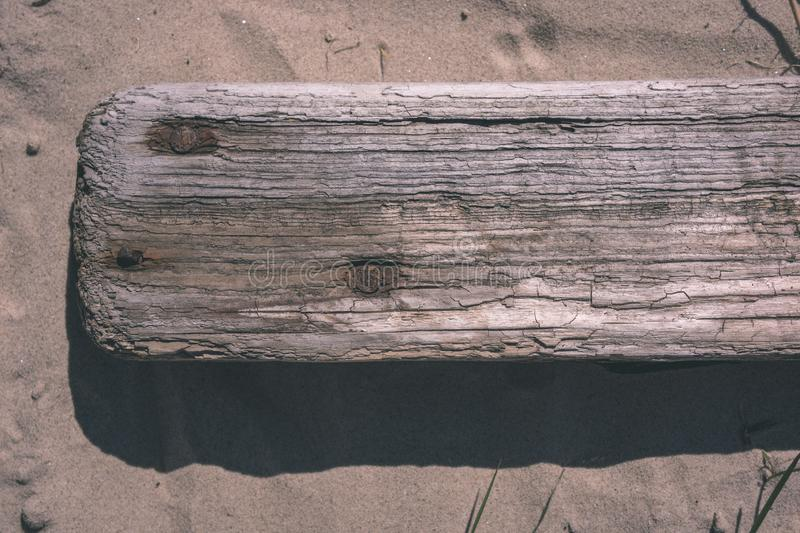 old wooden plank texture in direct sunlight - vintage retro look royalty free stock photo