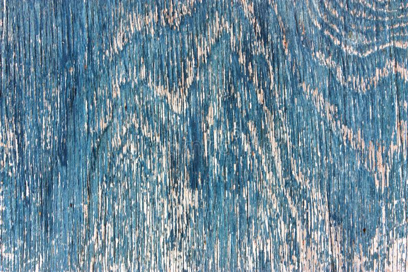 Old wooden plank texture, shabby faded weathered surface tree textured blue paint with cracks and scratches, ancient wood board, a royalty free stock photos