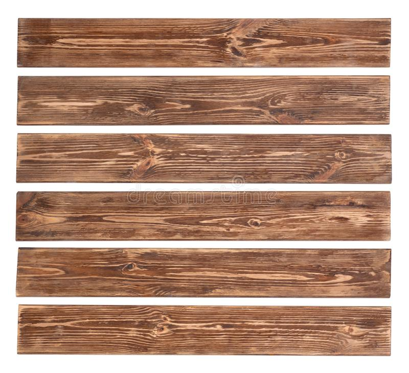 Old wooden planks isolated on white background royalty free stock image