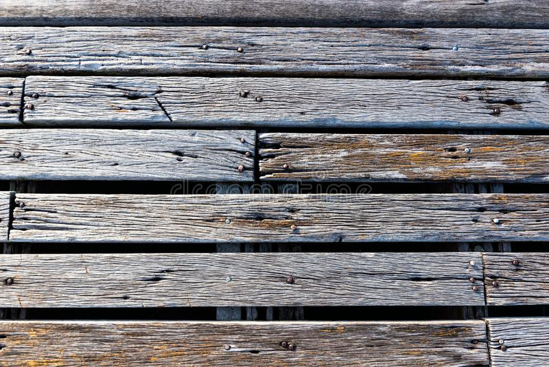 Old wooden plates background. With outdoor low lighting royalty free stock photos