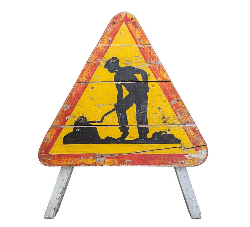 Old wooden road sign. royalty free stock image