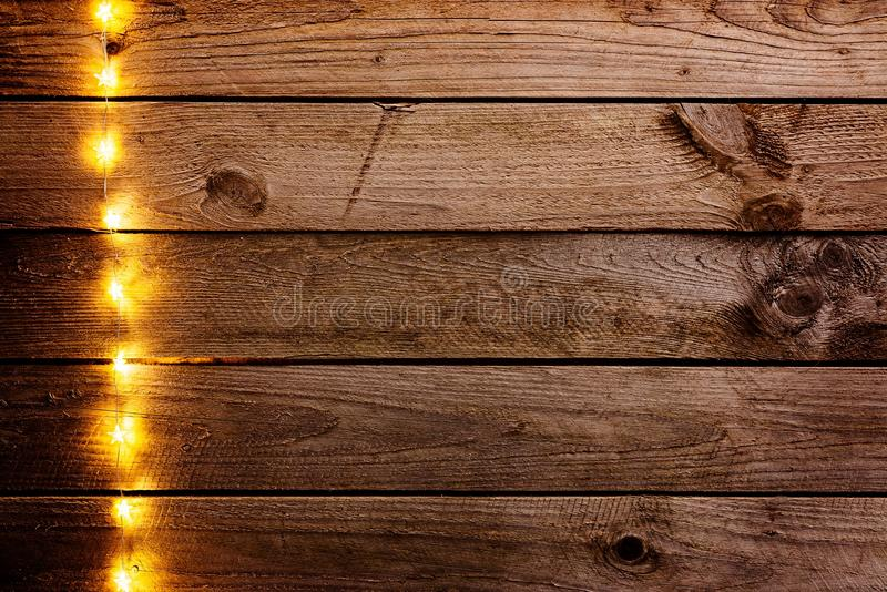 Old Wooden Rustic Christmas Background Stock Image Image