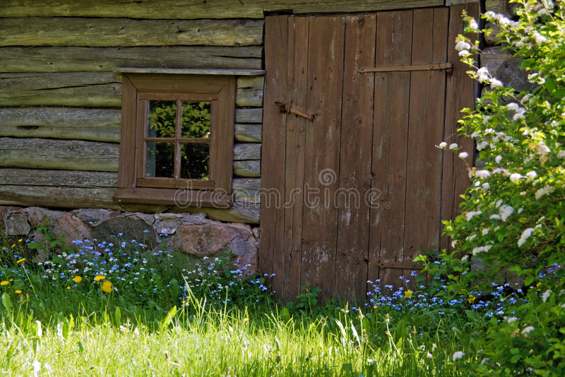 Old wooden sauna royalty free stock images