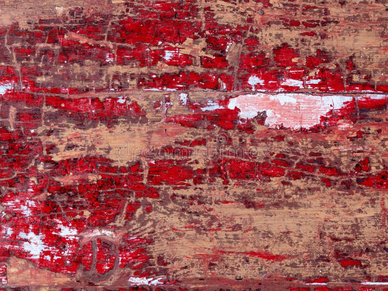 Old wooden shabby red background texture in part of rustic fence walls of house stock images
