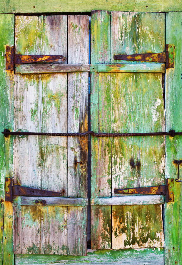Old wooden shutters, background stock photo
