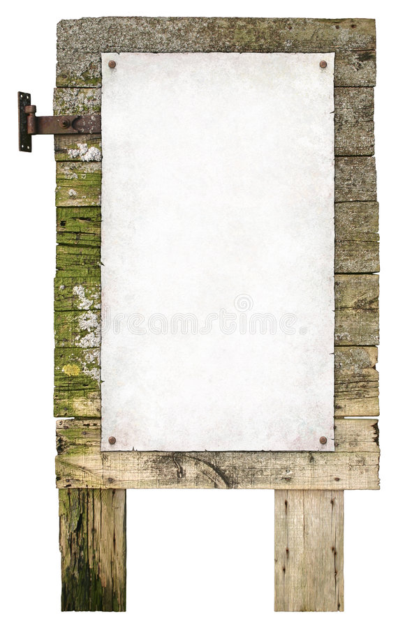 Old Wooden Sign stock image