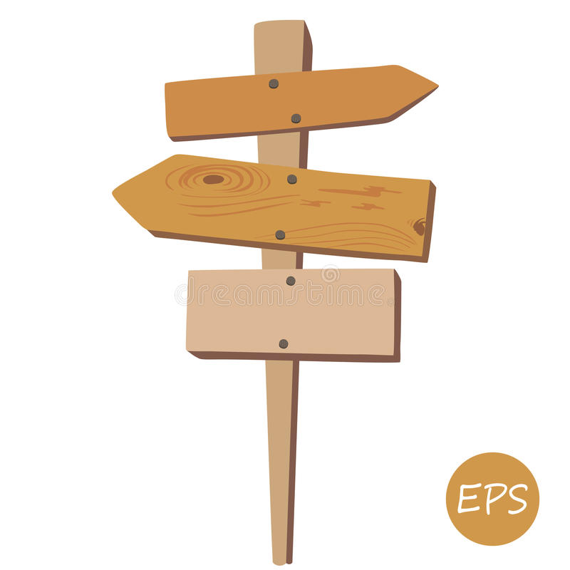 Old wooden signpost royalty free illustration