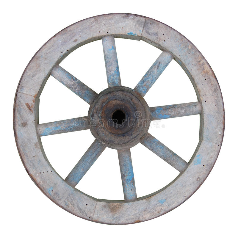 Old wooden spoked wheel stock images