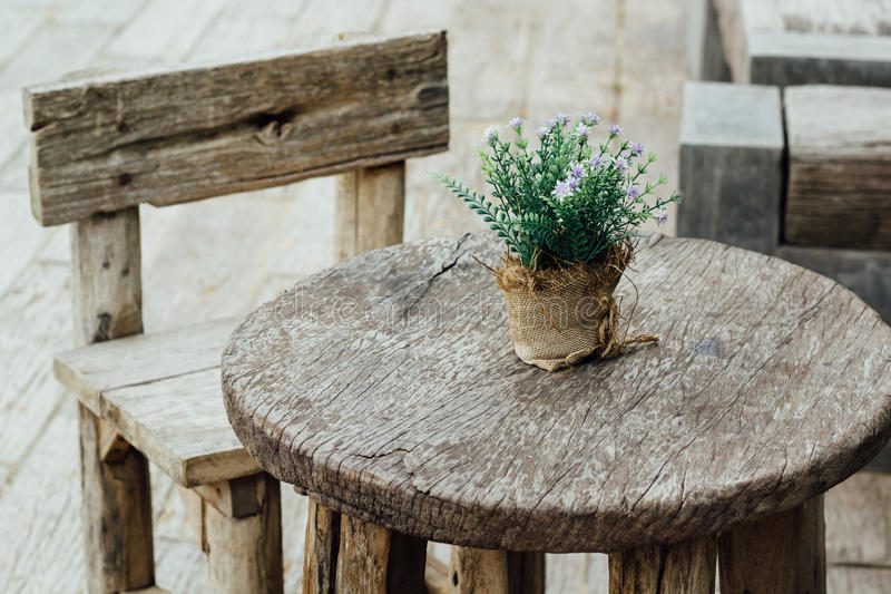 Old wooden table royalty free stock photo