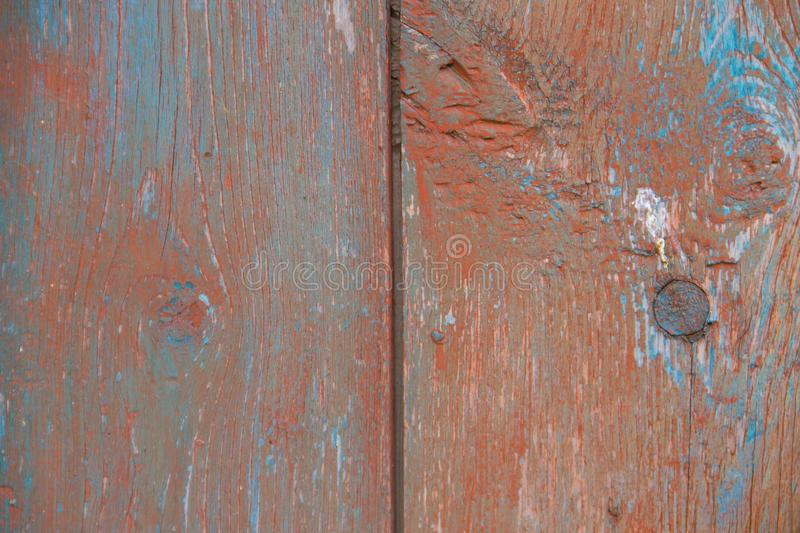 Old wooden texture with shabby brown paint stock images