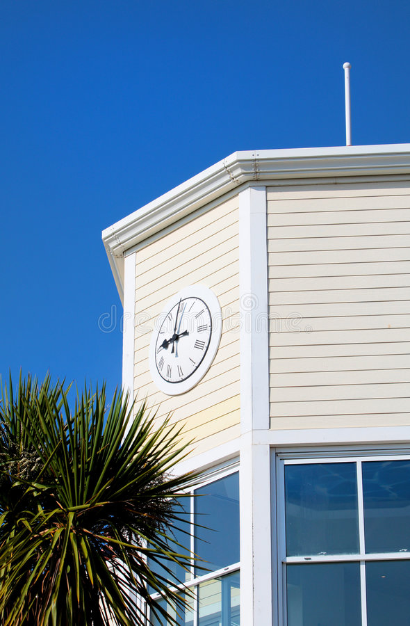 Download Old Wooden Tower With Windows And A Clock Stock Images - Image: 7131824