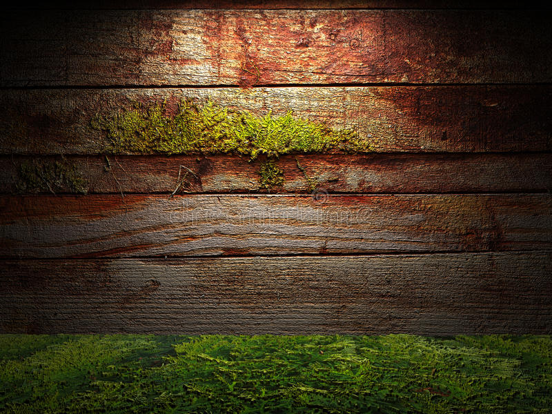Old wooden wall royalty free illustration