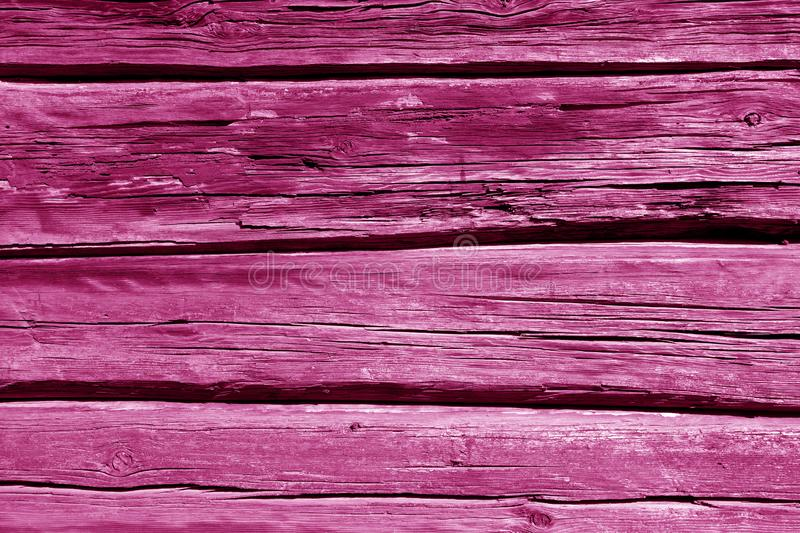 Old wooden wall in pink color. Abstract background and texture for design, vintage, weathered, timber, tree, carpentry, natural, painted, materials, board royalty free stock images