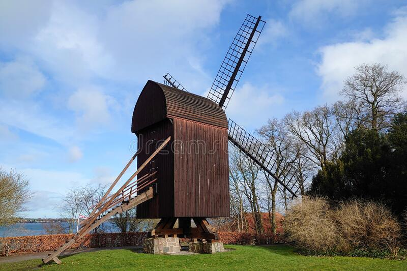 Old Wooden wind mill royalty free stock images
