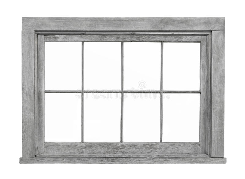 Old wooden window frame isolated. royalty free stock photography